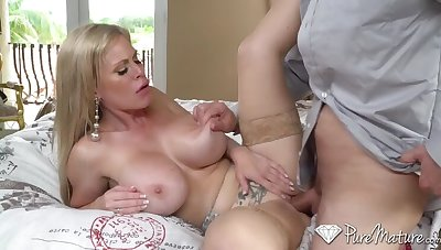 Slutty Grown up Nympho w Silicon Titties Drilled