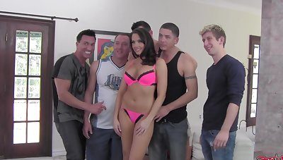 Behind the scenes of gangbang scene filming roughly Chanel Preston