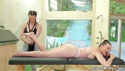 FANTASY Rub-down Wife Cheats w Sexy Masseuse PAWG