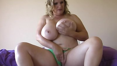 Guy has a boo-boo plus stepmom with huge boobs gives him a handjob