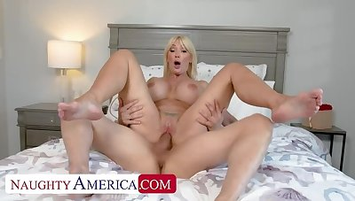 Naughty America: Sexy MILF Victoria Lobov loves young cock on PornHD