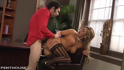 Cameron Dee - Blonde Natural Big Knocker Milf Loves Sucking & Fucking Cock In Office