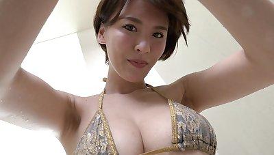Japanese forlorn spinner thrilling sex video