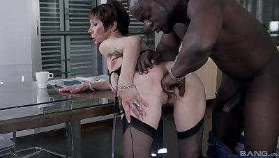 Pierced pussy milf Catalya Mia gets fucked by her handsome lover