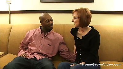 Tiny redhead mature gets fucked by a big diabolical dick