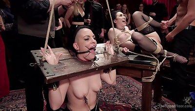 Doms subject Rachael Madori and Aria Alexander to daunting BDSM tactics
