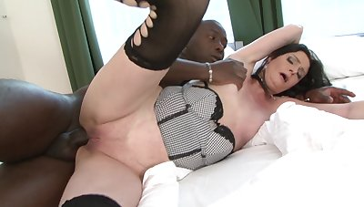 Mature tries hard sex with a black man when hubby is not digs