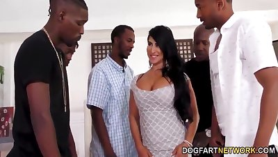 Cougar Squirting MILF Black gang cum
