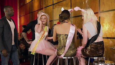Titanic orgy with Lucia Love, Carly Rae, Ella Hughes and Suzi Rainbow