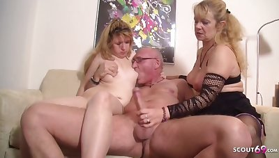 Nasty Teenage Pounded by older Couple in 3Some
