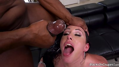 MILF gets blacked in DP modes spasmodically made to swallow