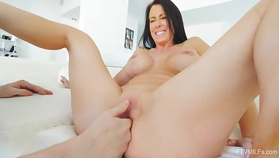 Pussy eating makes Reagan wet and she demands to be fucked good