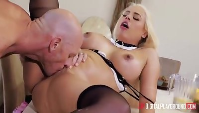 The Owner Coveted The Silicone Figure Of The Housemaid Luna To Luna Star With an increment of Johnny Sins