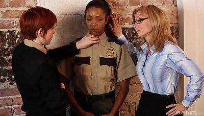 Ebony spoil plays filial for both these slutty women