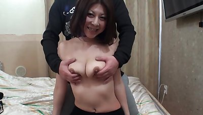 Trimmed pussy Japanese tie the knot Junko gets fingered and fucked good