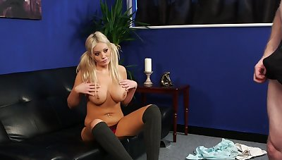 Shove around blonde sure feels intrigued apart from the man's big dick