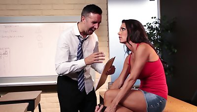Top doll bangs a lot of inches during a fine office XXX