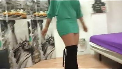A sex lesson he won't forget. Nuria teaches him how beside fuck!