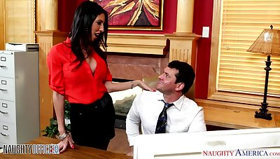 Sexy hot AF unlighted sob sister Dava Clootie is pounded by office clerk
