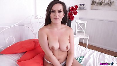 CR sexual frustration - Striptease with comely busty brunette mom